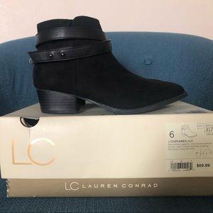"Lauren Conrad ""Cupcake"" Black Ankle Boots"